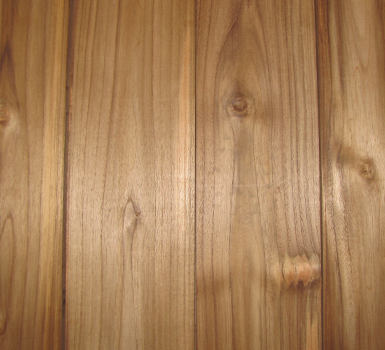 Close up of planed teak lumber
