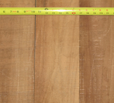 Sample of FEQ teak board close up